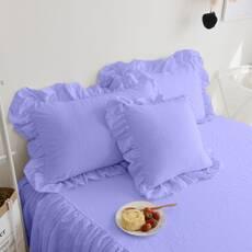 Комплект постельного белья Премиум Сиреневый с Рюшей