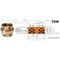 Втулка бронзова з графітовими вставками TGW