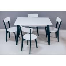 Деревяний стіл Мілан зі стільцями Топ