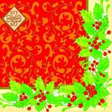Салфетка ТМ Luxy 33х33, Новогодняя классика