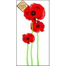 Салфетка ТМ Luxy Mini 33х33 см декор 3 слоя,10шт Цветок победы 4820164965252