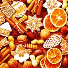 Салфетка ТМ Luxy 33х33, Новогодние сладости