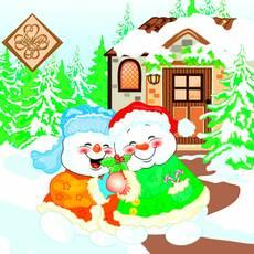 Салфетка ТМ Luxy 33х33, Веселые Снеговики