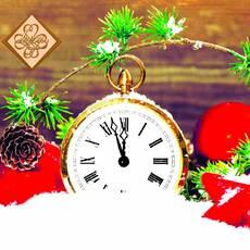 Салфетка ТМ Luxy 33х33, Праздничные часы
