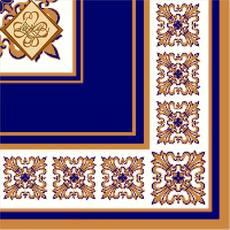 Салфетка ТМ Luxy 33х33 см, 3 слоя, 20 шт. Верона синяя 4820012346295