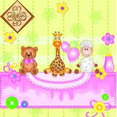 Салфетка ТМ Luxy 33х33 см, 3 слоя, 20 шт. Для малыша розовая 4820164967638