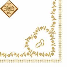 Салфетка ТМ Luxy 33х33 см, 3 слоя, 20 шт. Цветочные кольца 4820164962947