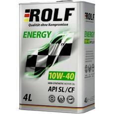 Масло моторное ROLF ENERGY 10w-40 SL/CF 4 литра Артикул 322227
