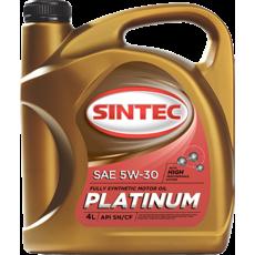 Масло ДВС 5W-30, Sintec, Platinum SN/CF,   4л, синт