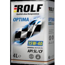 Масло ДВС 15W-40, Rolf, Optima SL/CF,   4л, mineral oil