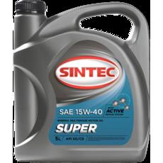 Масло моторное 15W-40, Sintec, Супер SG/CD,   5л, минеральное