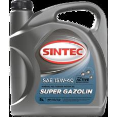 Масло двигуна 15w-40, Sintec, Super Gazolin SG/CD, 5л, мінеральна