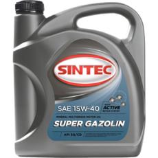 Масло моторное 15W-40, Sintec, Super Gazolin SG/CD,   4л, минеральное