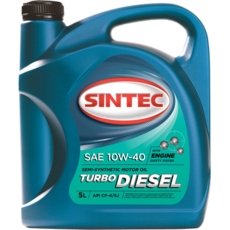 Масло моторное 10W-40, Sintec, TRUCK Turbo Diesel CF-4/CF/SJ,   5л, п/синт