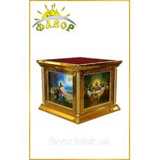 Престол 130×130 см, чеканка, иконы литография