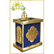 Стол панихидный 100 свечей под ПЕСОК_бархат (разборный)