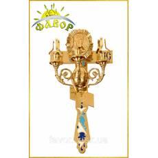 Пасхальный трехсвечник с крестом