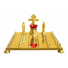 Кришка столу панахиди, 36 свічок (лита голгофа)