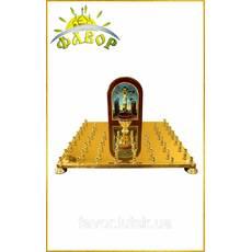 Кришка столу панахиди 50 свічок, літографія