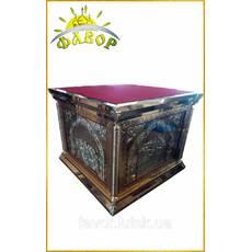 Престол 150х150 см, чеканка, литые иконы