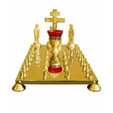 Крышка панихидного стола, 24 свечи (литая Голгофа)