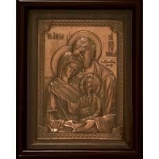 Икона Святое Семейство 29х25см медь_156