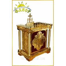 Стіл панахида на 100 свічок (на оксамиті, з дверцой)