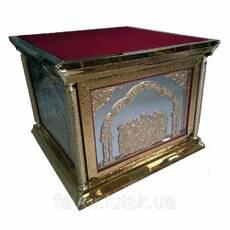 Престол 130х130 см, карбування, литі ікони