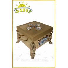Ковчег для частиц святых мощей 1-2-3-4 частиц, 19×19 см