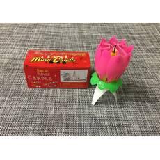Свічка-квітка для торта музична / Ali-20