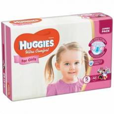 Підгузники Huggies Ultra Comfort For Girls 5.42 шт. 12-22 кг.