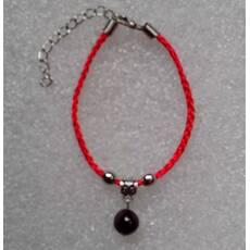 Червона нитка оберіг натуральний камінь Гранат 10 мм