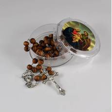 Вервиці намисто католицькі ароматичні дерев'яні розарій коричневі