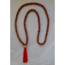 Мала чотки з рудракші 108 намистин по 0,6 см довжина 40см