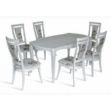 Комплект стіл Маркіз + стільці Маркіз білий купити в Україні