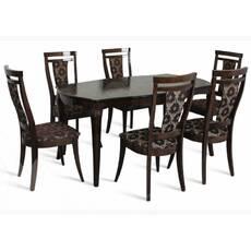 Комплект стіл Маркіз + стільці Маркіз темний горіх купити недорого