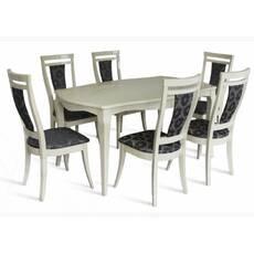 Комплект стіл Маркіз + стільці Маркіз слонова кістка купити в Луцьку