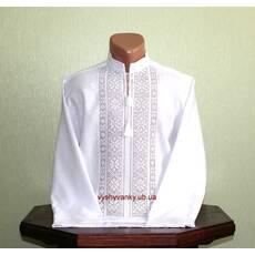 Полтавська вишиванка білим по білому чоловіча. Ручна робота.