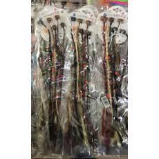 Косички афро с деревянными шариками