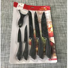 Набір кухонних металокерамічних ножів 6шт / ХЕ-6345