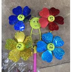 Ветряк бабочка на 4 цветка фольга