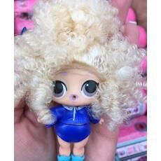 Лялька лол капсула з натуральними волоссям в асортименті