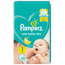 Підгузники Pampers NEW Baby- Dry №1 43 шт. (2-5кг)