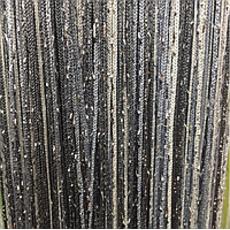 Штори нитки веселка дощ 1 + 7 + 207 білий + сірий + графітовий