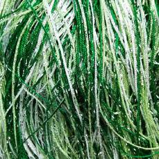Шторы нити радуга дождь номер1+15+211 белый+салатовый+зеленый