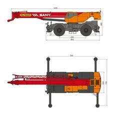 Короткобазовый кран Palfinger Sany SRC 750 г/п 75 т купить в Украине