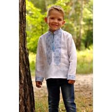 d04bcd7c1cfc36 Вишиванка дитяча для хлопчика з натурального льону Модель: Д071-213 ...