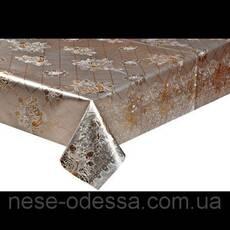 Клеенка на тканевой основе золото/серебро, шелкография. 1,40*20 метров