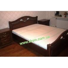 Ліжко Орхідея з масиву дуба