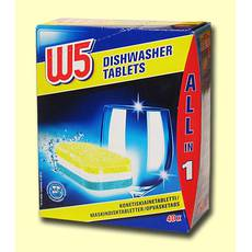 Таблетки для посудомийної машини W5 40 шт Німеччина